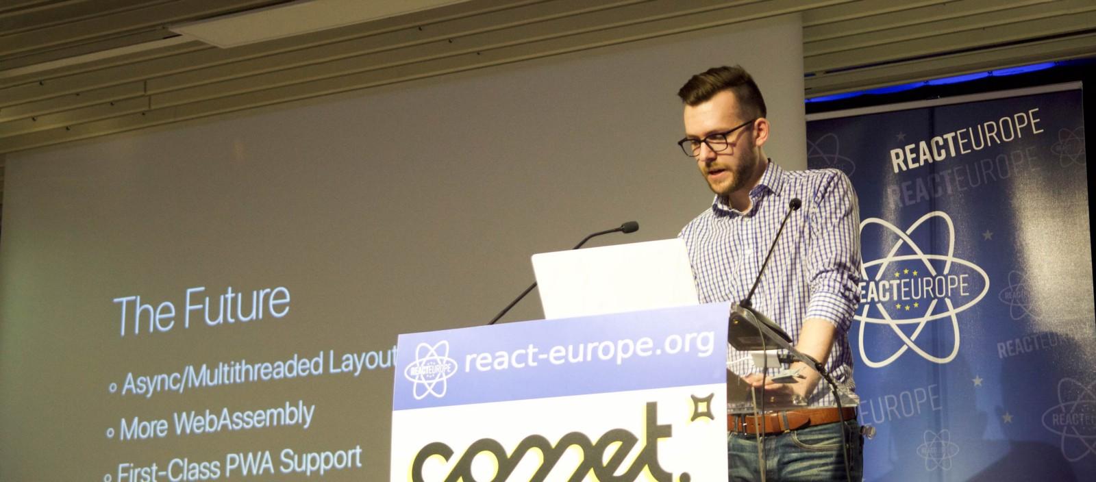 Vincent Riemer at ReactEurope 2018