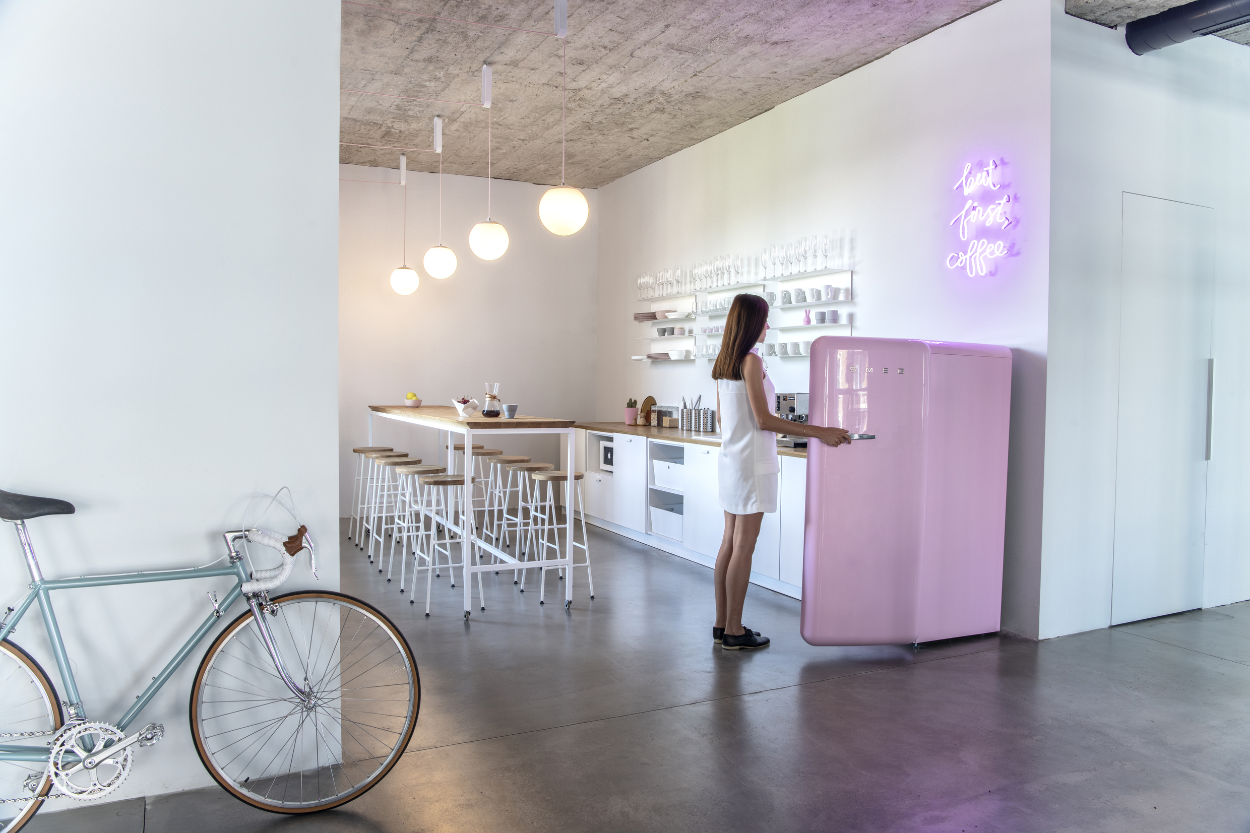 Kitchen area at Despark agency headquarters, Sofia