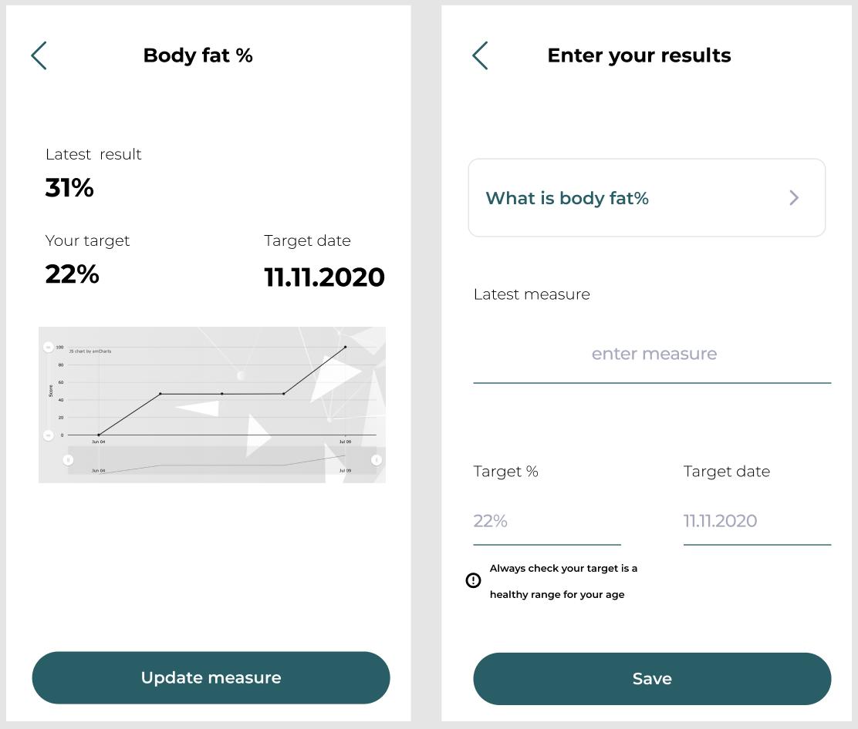 UN1T app stats screen - Despark