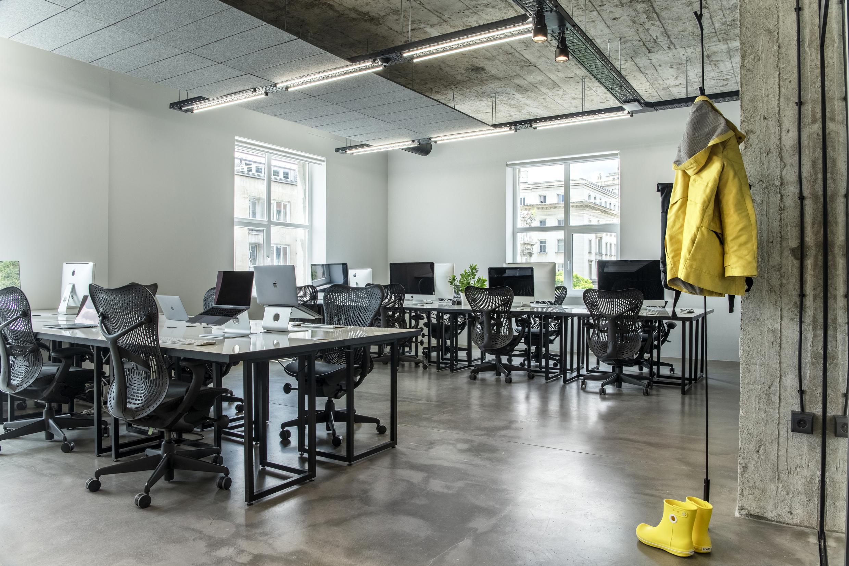 Working area at Despark agency headquarters, Sofia