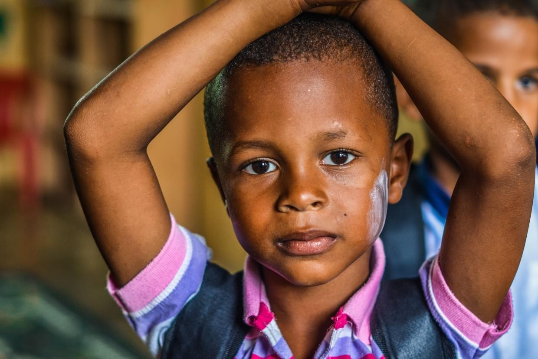 Despark—keen schoolchild in Africa