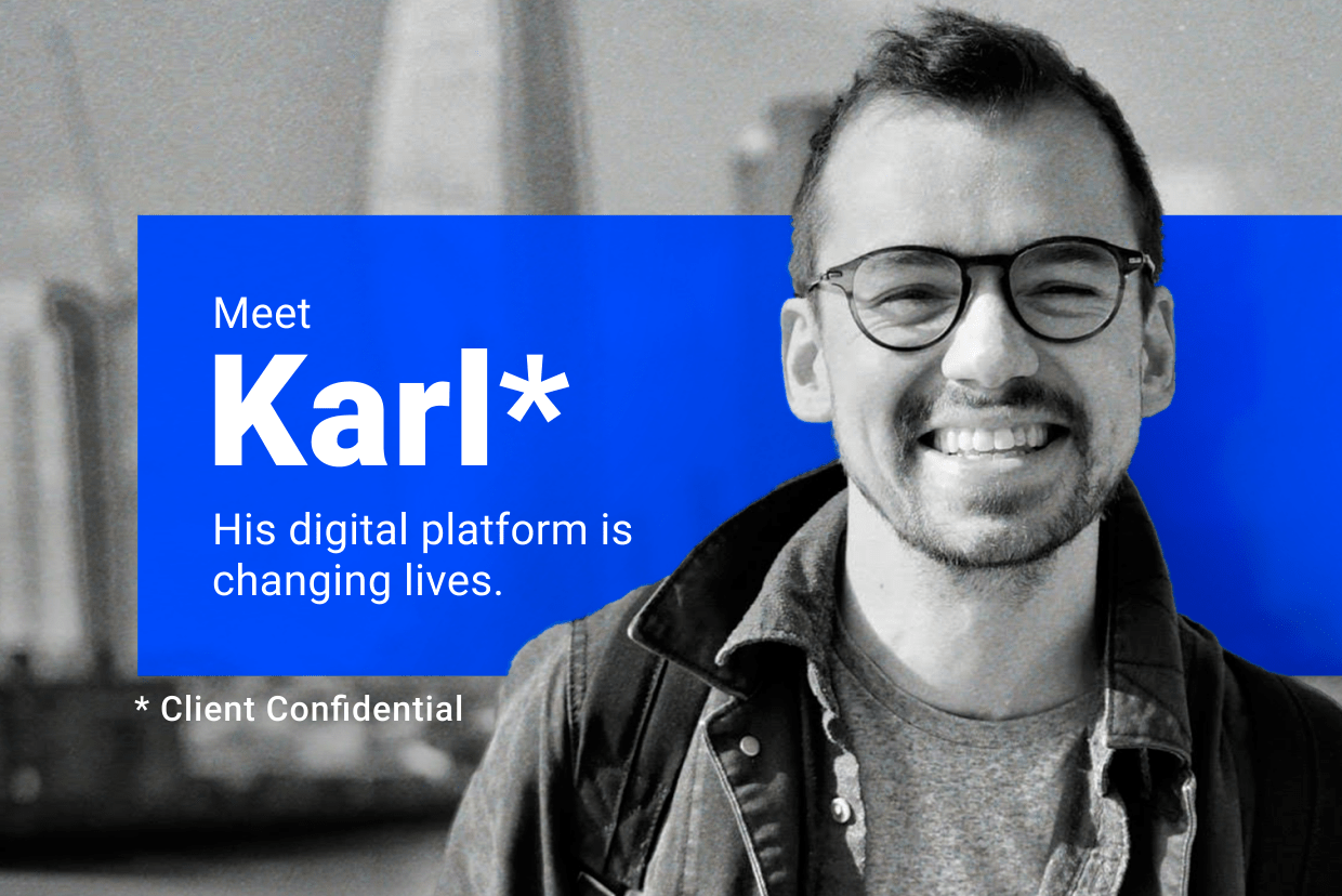Karl Brown, Co-Founder & CEO of Self-development app CURV in an interview with digital agency Despark