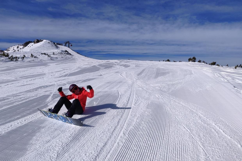 Despark Team member on the slopes